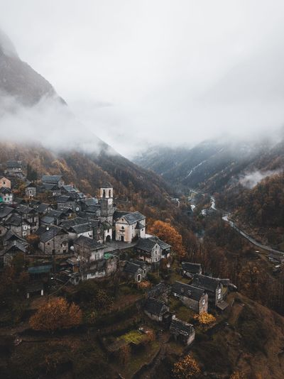 Village life in Switzerland Autumn Landscape VSCO Nature Building Exterior Architecture Sky Mountain Built Structure Environment Nature No People Scenics - Nature Tree Beauty In Nature Day Landscape Building City High Angle View Plant Fog Outdoors Cityscape