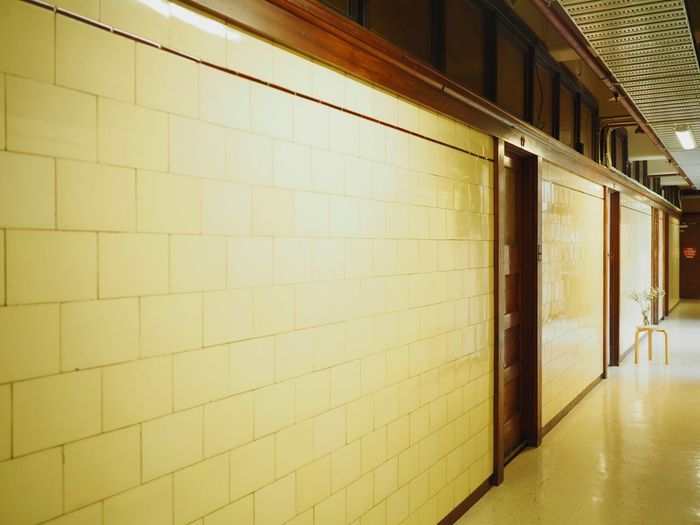 Offices and walkways during the 1920s. Indoors  Architecture Corridor No People Built Structure Wall Lines PrisonNicholas Building Melbourne 1920s Perspective Photography Indoor Photography