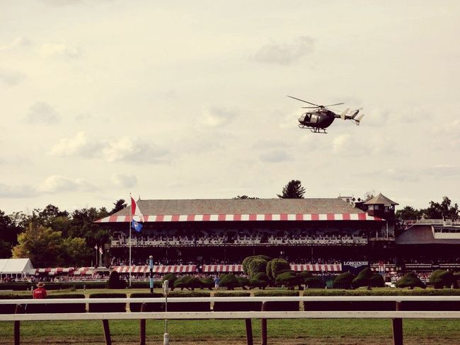 Saratoga Springs Hi! Cheese! Equine Horse Photography  Enjoying Life Horse Racing Racetrack Race Horses Travers Saratoga Race Course Clouds Hellicopter Hostory