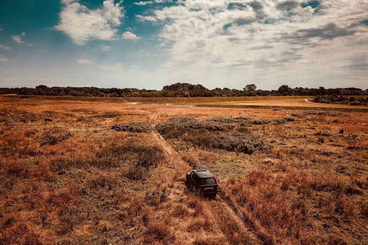 Overland Travel Sky Land Nature Landscape Environment No People Scenics - Nature Tranquility Field Outdoors