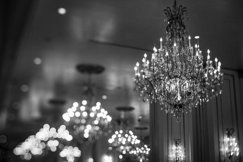 Chandelier Interior Design Light Fineart Las Vegas Tiltshift Blackandwhite