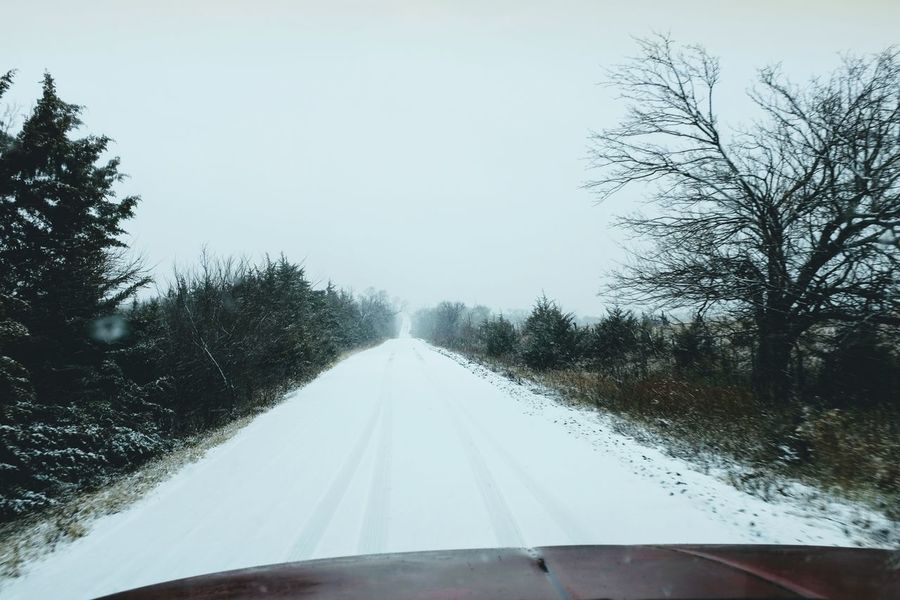 Visual Journal December 2016 Nebraska Beauty In Nature Camera Work Country Road Day FUJIFILM X-T1 Nature No People Outdoors Photo Diary Remote Location Rural America Rural Scene Snow The Way Forward Transportation Visual Journal Windshield Winter Wintertime