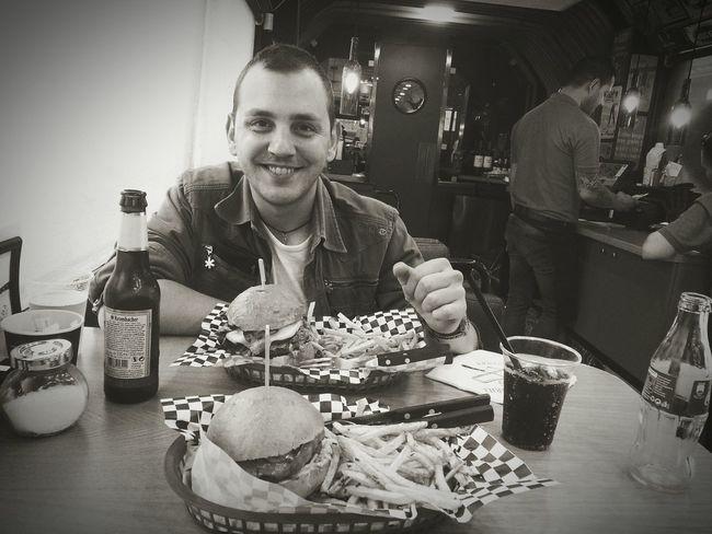 BurgerBus #burger #coke #beer #bae  Smiling Fast Food First Eyeem Photo