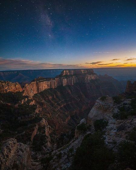 Milky Way over Grand Canyon yesterday. Milkyway Skyporn Sky Arizona First Eyeem Photo