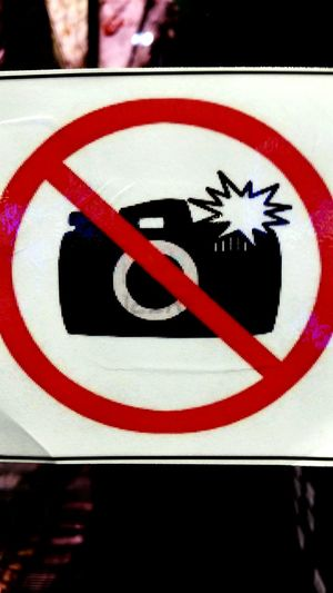 Photography Forbidden Signs