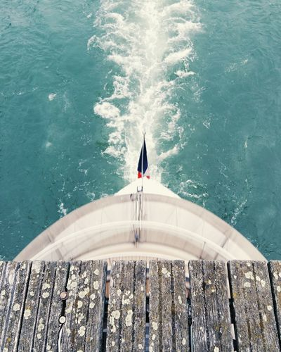 Water Day Pier Wood Bridge Paris, France  Peniche Boat French Flag Pont Des Arts Urban Lifestyle Telling Stories Differently Pivotal Ideas Everyday Lives From Above  A Bird's Eye View Nautical Vessel Tranquility Paris, France  Vacations The Color Of Sport The Great Outdoors - 2017 EyeEm Awards Breathing Space