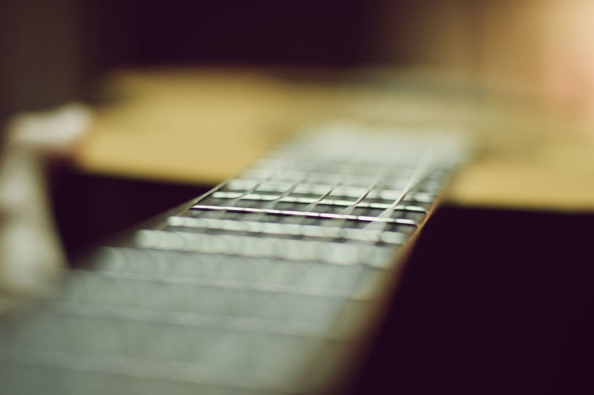 Blur Depth Of Field Guitar Harmony Macro Music Photography Sharp Strings Yellow