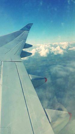 Traveling Inflight KLM Cloud And Sky throwbackk~