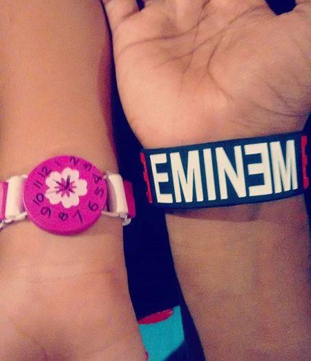 Love Mylove Eminem SlimShady Handband Timewatch Forevertogether Outing 💑👫😻🙈🙉🙊😘😚😍😎