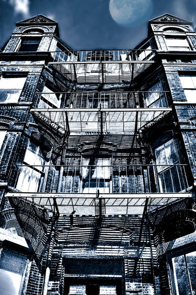 Moon Architecture Building Exterior Built Structure Low Angle View Sky Staircase Stairs Steps Steps And Staircases