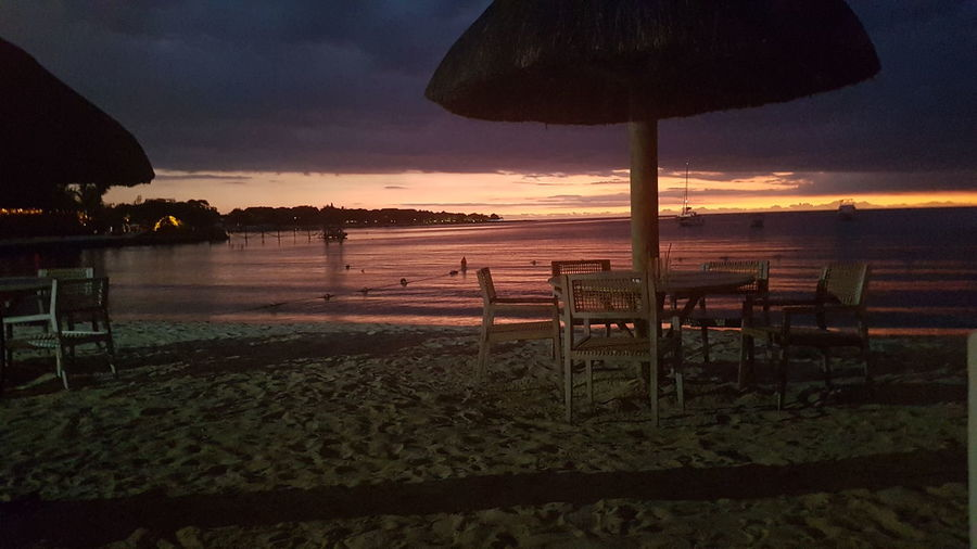 Sunset on the beach. Sunset Sky Nature Scenics Water Beauty In Nature Cloud - Sky Outdoors No People Night Creole Mauritiusexplored Mauritius Mauritius Island Beach Life Jetty, Pier Beauty In Nature Tranquility Sea Travel Nature Reflection Beauty Islandlife Rhum Rhumerie My Year My View