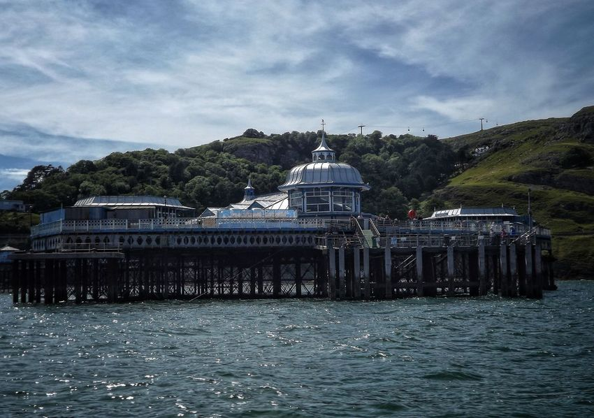 The end of Llandudno Pier North Wales Water Architecture Built Structure Cloud - Sky Building Exterior Outdoors Sky Fujifilm The World Through My Eyes Travel Destinations Creative Light And Shadow Malephotographerofthemonth Architectural Detail Architecture North Wales Llandudno Pier Llandudno, United Kingdom Waterfront