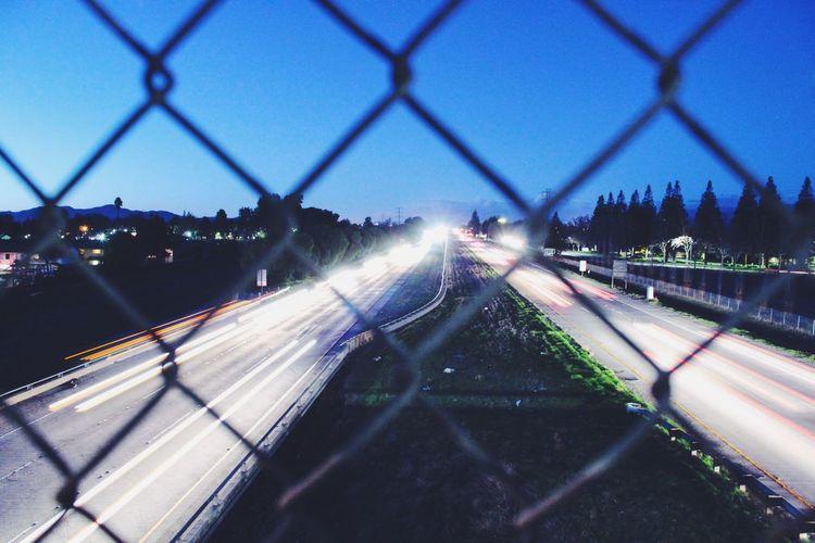 Long Exposure Freeway Freeway Overpass