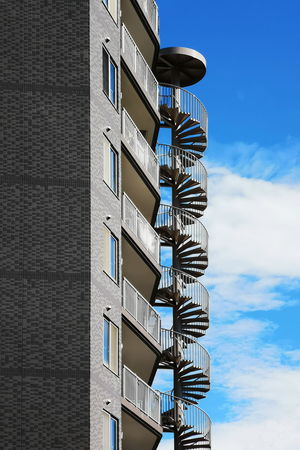 Shapes Apartment Architecture Balcony Building Building And Sky Building Exterior Built Structure Cloud - Sky Day Fire Escape No People Outdoors Pattern Residential Building Shapes And Forms Shapes And Patterns  Sky Staircase Sunlight Tall - High