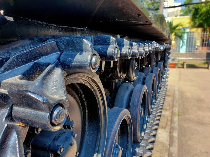 Close-up of construction machinery