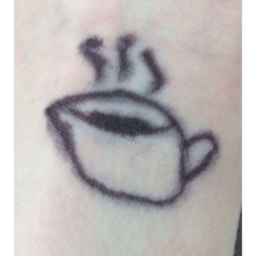 Coffee Sharpie Tattoo!