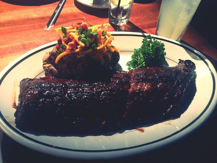 Seems to be the only thing I eat here lately. Food Porn Houstonsteakhouse Ribs Potatoes