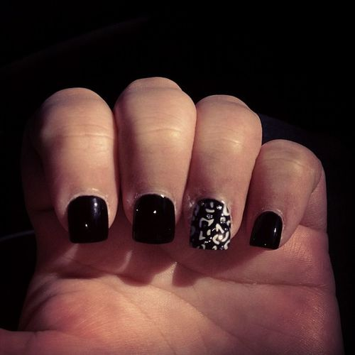 Nailsdid Dannysnails Love Black leopardprint