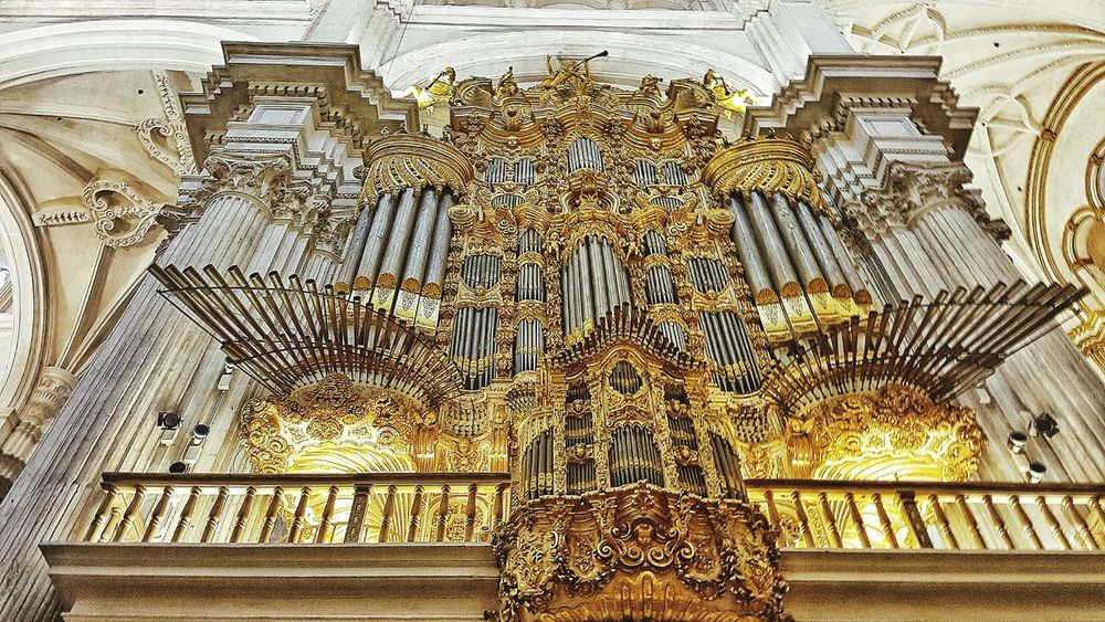 Architecture Granada Cathedral Organ Musical Instrument Travel Traveling Tourist Tourist Attraction  Building Indoor Photography