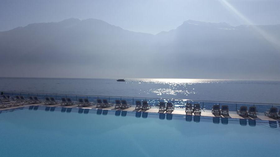 Lago Di Garda Lagodigarda Italy Italia See Pool Bluesky