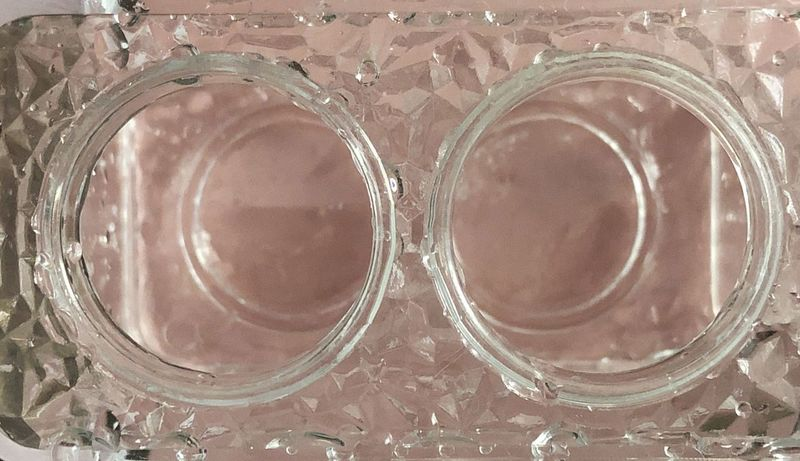 Binaculars Frosty In Depth Eyeglasses  Toothbrush Holder Plastic Pink Color Vision Circle Double Indoors  No People Close-up Drinking Glass Table Backgrounds Freshness Day