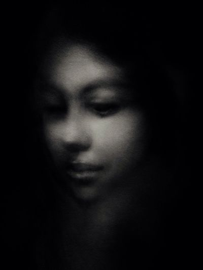 """""""Not a moment goes by without the thought of you..."""" Face Pensive Darkness Psychology Editorial  Drawing Blackdrawing Byebye Art Art, Drawing, Creativity Portrait Draw Charcoal Drawing Black & White Dark Drawings Gettyimages Getty Images"""