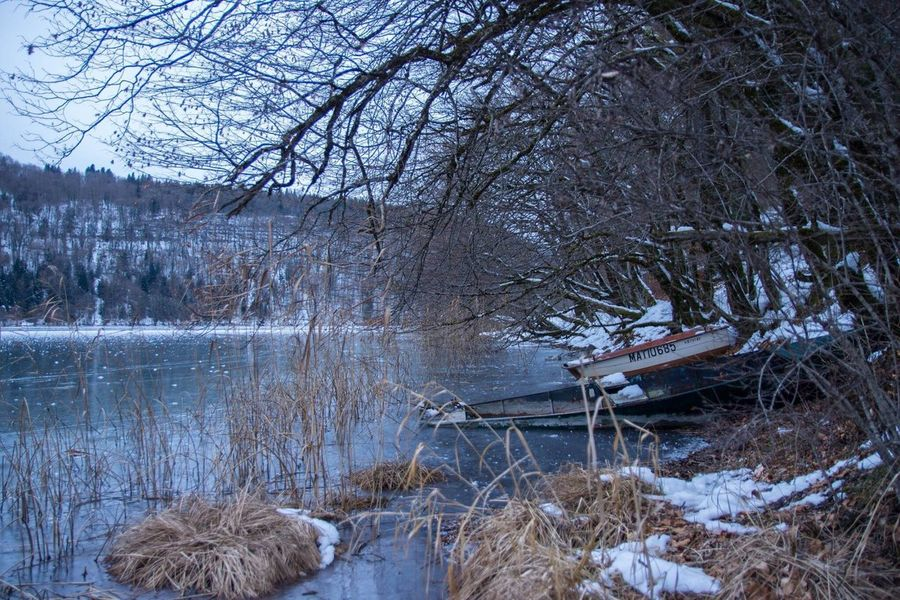 Tourism Winter Cold Temperature Nature Beauty In Nature Water Franchecomte Jura Lake France