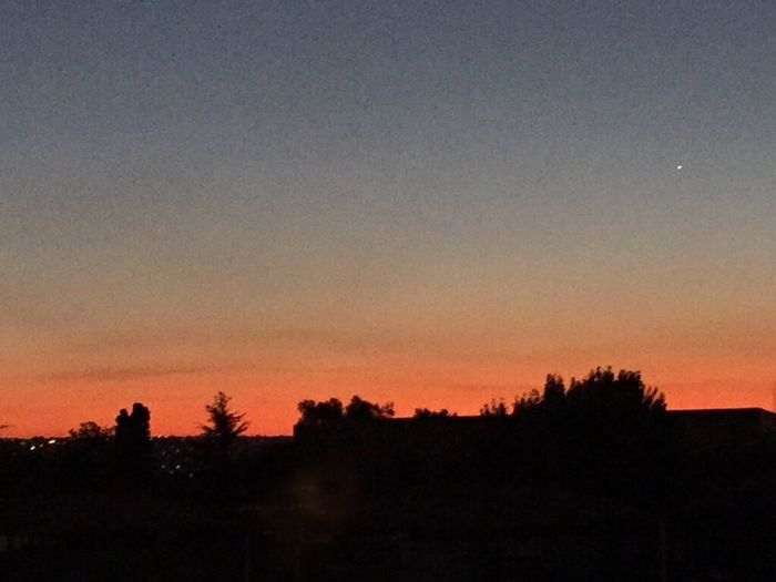 Magnificent Sunset Orange Red Sunset Dark Sky Black Foreground Silhouette IPhoneography Iphone6 Perfect End To A Long Working Day Outdoors Evening Lights Outside Natural Light Nature Is Art Beauty In Nature Clear Winter Evening Sky