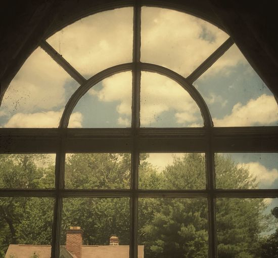 Sky No People Landscape Tree Outdoors Day Nature Cloud - Sky Blue Tranquility used a vintage edit because the scene reminded me of something I might have seen as a child, made me nostalgic View through a window In Hartford Ct 🇺🇸