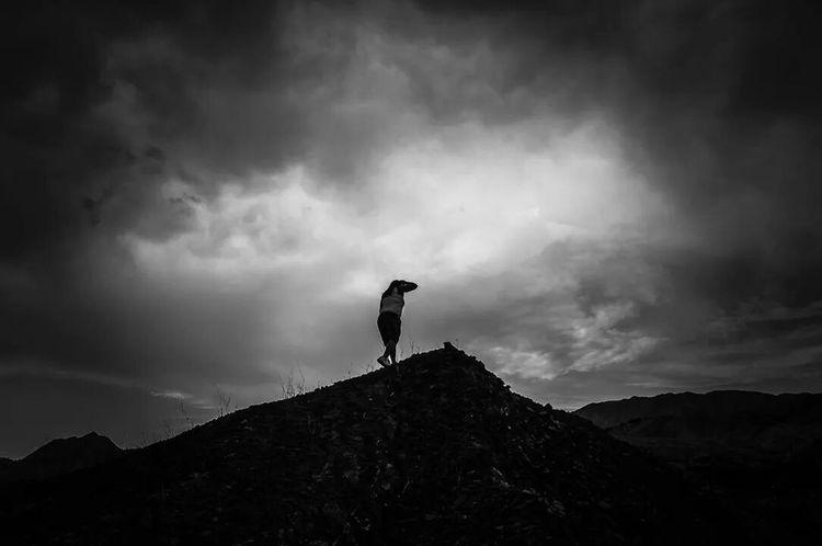 Black & White Hiking Sky