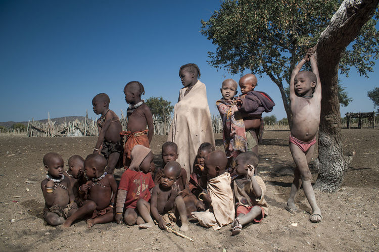 African Children Child Children Children Of The World Children Portraits Children's Portraits Children_collection Childrenphoto Himba Large Group Of People Namibia People Poor  Togetherness Tribe