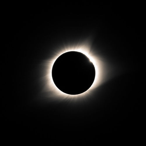 The total solar eclipse as it appeared over Southern Illinois. Taken somewhere outside Sparta. Corona Once In A Lifetime Astronomy Astrophotography Beauty In Nature Celestial Diamond Ring Eclipse Moon Perfect Moment Phenomenon Silhouette Sky Solar Eclipse Space Star - Space Sun Total Eclipse