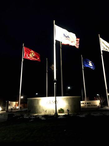 Flag Patriotism Flag Pole Independence Night Stars And Stripes Pride