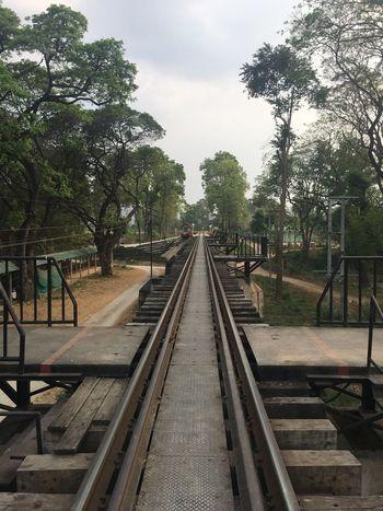 Railway tracks to infinity