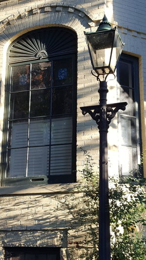 a gas street light on Maitland St.