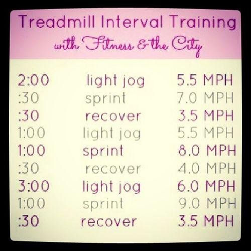 Treadmill Run Walk Interval training health workout timed fullbody inspiration challenge