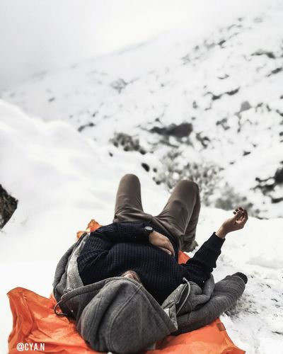 chilling on snow! Adventure Winter Relaxation First Eyeem Photo Snow CyaNaseri