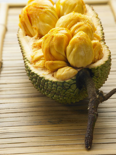 cempedak malaysia fruit Raw Tropical Fruits Asian Fruit Cempedak Close-up Day Exposed Food Food And Drink Freshness Half Healthy Eating Indoors  No People Open Strong Smell Table Yellow