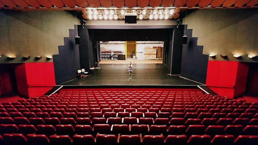 Made by Sony Xperia XZ Exploring Lights Lost MMIK Megyei Művelődési és Ifjúsági Központ Stairway Theater Explore Indoors  Inside Old Old Buildings Seats Used Useless