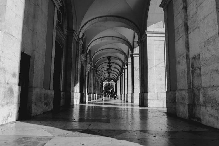 Interior of corridor in building