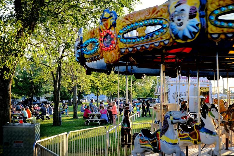 Carnival Hanging Out Small Town USA CarouselCarousel Check This Out A Day In The Life Rural America MidWest Portrait Of America
