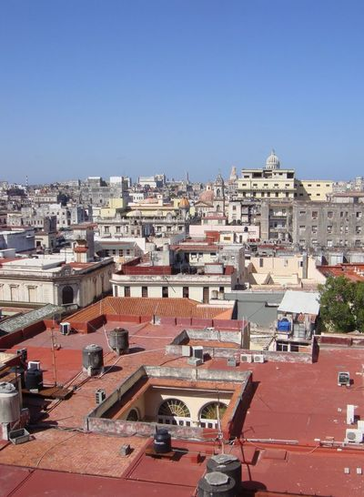Old Town Havana view Architecture Building Exterior City Cityscape Day High Angle View No People Old Town Havana Cuba Colonial Architecture UNESCO Area Outdoors Sky Travel Destinations