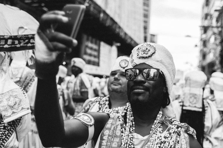 Blackandwhite Photography Carnival Carnival Costume Carnival Time Ghandi Headshot Leisure Activity Lifestyles Outdoors Portrait Selfie Street Streetphotography Sunglasses Up Close Street Photography