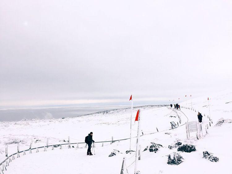Hiking Treveling Winterscapes Mountain Hallasan JEJU ISLAND