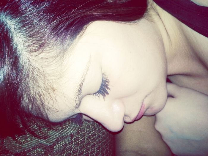 he took a picture of me sleeping ! ;o <3<3<3