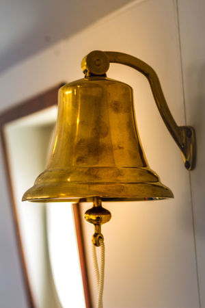 Bell Close-up Day Focus On Foreground Gold Colored Golden Color Hanging Indoors  Metal No People