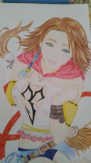 Final Fantasy 10-2 Yna Pistolera Fan Art Pastelli Fan Art Manga~ Matite Finalfantasy Pastelli