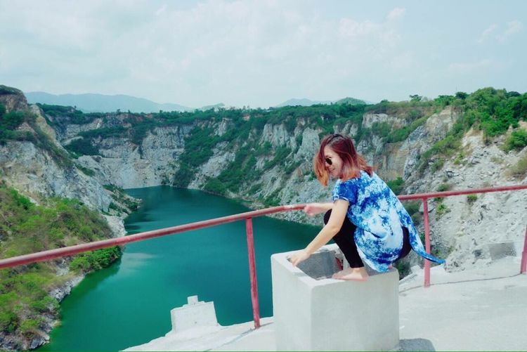 Me^^ Grand Canyon Grandcanyon Grandcanyonthailand Grandcanyonchonburi Travel Mountain Sky Day One Person Real People Water Outdoors Leisure Activity Full Length Casual Clothing Rock - Object Lifestyles Nature Young Adult River Standing Scenics Young Women Beauty In Nature Beautiful Woman
