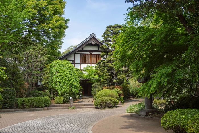 Tokyo Tokyo Street Photography Tokyo,Japan Architecture Beauty In Nature Building Building Exterior Built Structure Day Direction Footpath Front Or Back Yard Garden Garden Path Green Color Growth Hedge House Nature No People Outdoors Plant Sky The Way Forward Tree