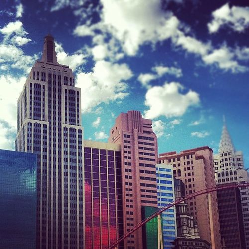 So Good They Named It Twice Clouds Building Rollercoaster Newyorknewyork Vegasbaby Lasvegas Timewireless Concretejungle